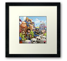 Clash Royale Troops Framed Print