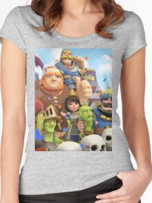 Clash Royale Troops Women's Fitted Scoop T-Shirt