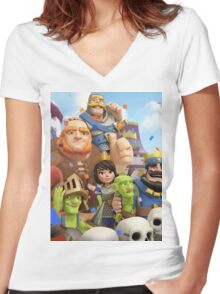 Clash Royale Troops Women's Fitted V-Neck T-Shirt