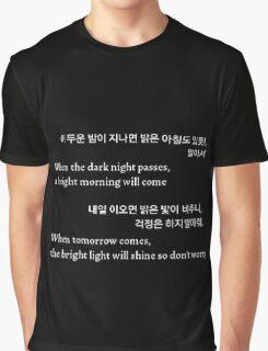 BTS/Bangtan Sonyeondan - Tomorrow  Graphic T-Shirt