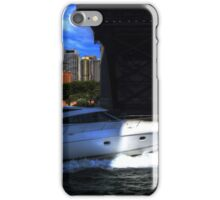 Cruising Under The Sydney Harbour Bridge iPhone Case/Skin