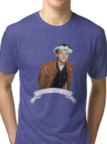 Leo and Flowers Tri-blend T-Shirt