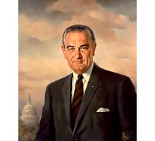 President Lyndon Johnson Painting Photographic Print