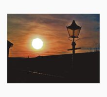 Old Railway Station Lamp At Sunset One Piece - Short Sleeve