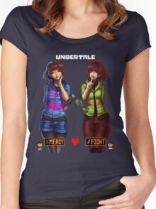 Undertale Mercy or Fight Women's Fitted Scoop T-Shirt