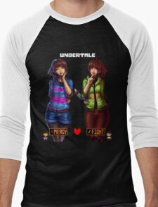Undertale Mercy or Fight Men's Baseball ¾ T-Shirt