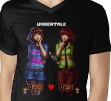 Undertale Mercy or Fight Mens V-Neck T-Shirt