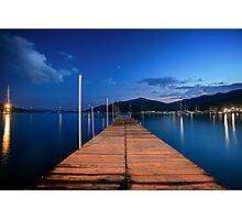 Wooden jetty in Gocek Photographic Print