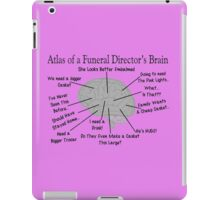 Funny Funeral Director's Brain iPad Case/Skin