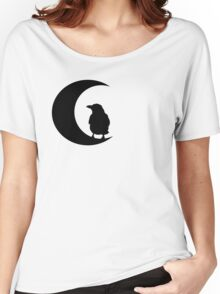Crow & Moon Silhouette Women's Relaxed Fit T-Shirt