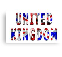 United Kingdom Word With Flag Texture Canvas Print