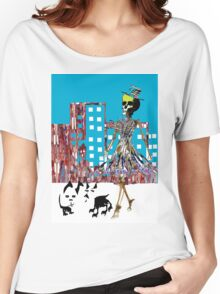 City Chic Skeleton  Women's Relaxed Fit T-Shirt