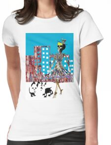 City Chic Skeleton  Womens Fitted T-Shirt