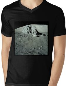 Moon Rock Mens V-Neck T-Shirt