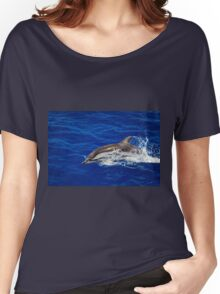 A wild free dolphin jumping  Women's Relaxed Fit T-Shirt