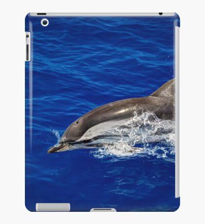 A wild free dolphin jumping  iPad Case/Skin