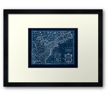 American Revolutionary War Era Maps 1750-1786 174 A new map of the British Dominions in North America with the limits of the governments annexed thereto by Inverted Framed Print