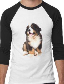 bernese mountain dog puppy Men's Baseball ¾ T-Shirt