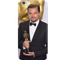 Leonardo DiCaprio with the Oscar (2) iPhone Case/Skin