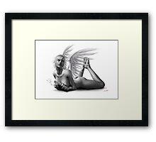 Rock Angel Pin-Up Girl Framed Print