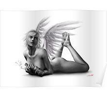 Rock Angel Pin-Up Girl Poster