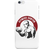 Fitness center or gym emblem iPhone Case/Skin