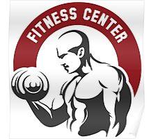 Fitness center or gym emblem Poster