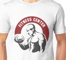 Fitness center or gym emblem Unisex T-Shirt