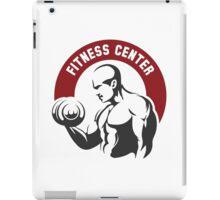 Fitness center or gym emblem iPad Case/Skin