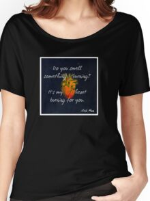 Burning Heart Women's Relaxed Fit T-Shirt
