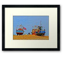 Hastings working beach Framed Print