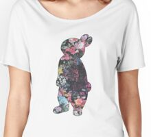 Floral Rabbit Women's Relaxed Fit T-Shirt