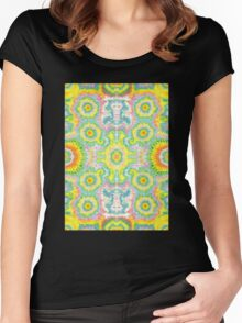 Fractal Pattern  Women's Fitted Scoop T-Shirt