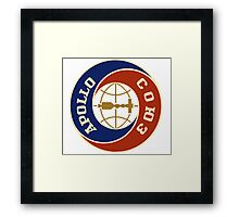 Apollo - Soyuz test project patch Framed Print