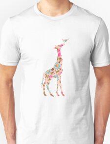 Floral Giraffe  Unisex T-Shirt