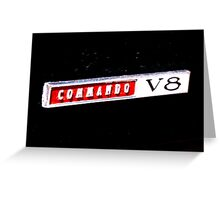 Commando V8 Greeting Card