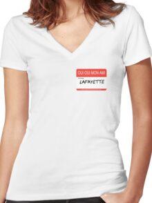 Lafayette>Lancelot Women's Fitted V-Neck T-Shirt
