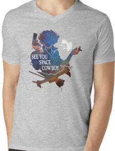 See You Space Cowboy Mens V-Neck T-Shirt