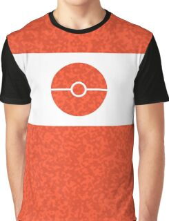 Pokemon CAMO Orange Graphic T-Shirt