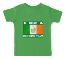 Irish Drinking Team (B) Kids Tee