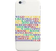 WE GO TOGETHER GREASE MUSICAL iPhone Case/Skin