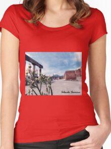 pompeii , naples ,vesuvius , landscape, photography Women's Fitted Scoop T-Shirt