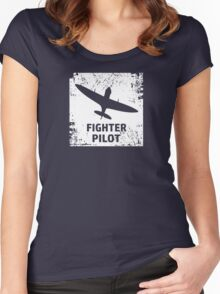 Fighter Pilot Women's Fitted Scoop T-Shirt