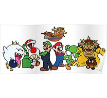Mario characters Poster