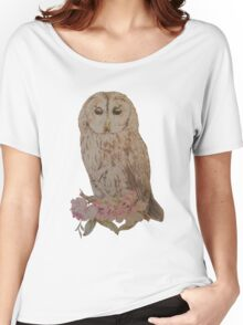 Owl and Flowers Women's Relaxed Fit T-Shirt