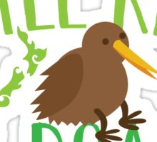 Little kiwi on board (New Zealand baby maternity pregnancy design) Sticker