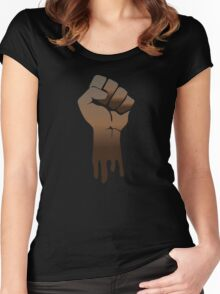 Black Power Women's Fitted Scoop T-Shirt