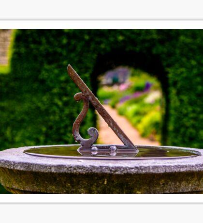 English country garden sun dial Sticker