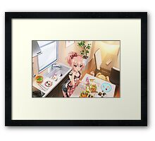 Preparing Lunch Framed Print