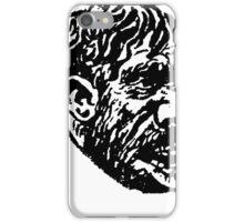 Creepy Caveman Head  iPhone Case/Skin